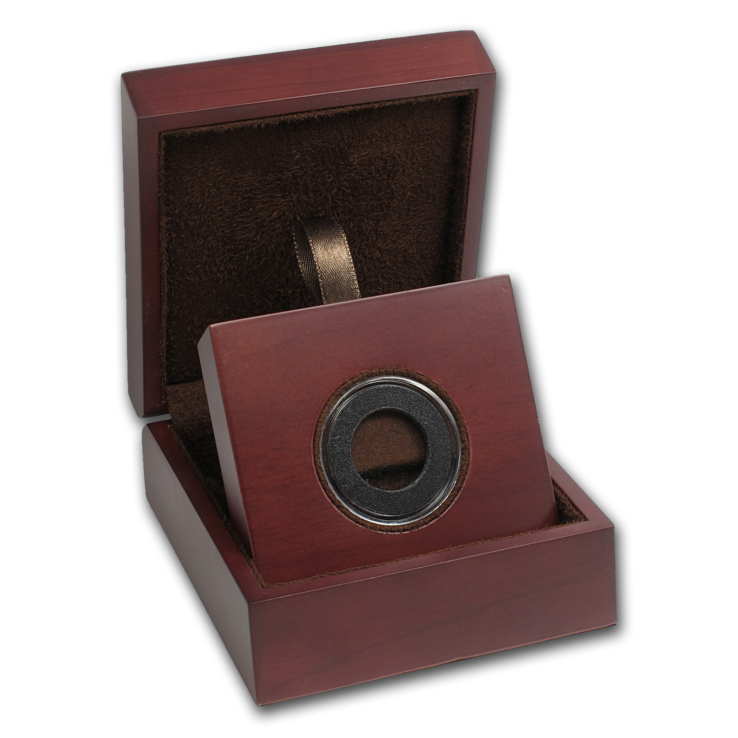 APMEX Wood Gift Box - Includes 20 mm Air-Tite Holder with Gasket